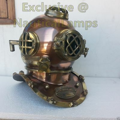 US Navy Mark V Vintage Scuba Antique Deep Divers Diving Helmet Full Size