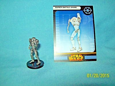 WotC Star Wars Miniatures Super Battle Droid, RotS 40/60, Separatist, Common