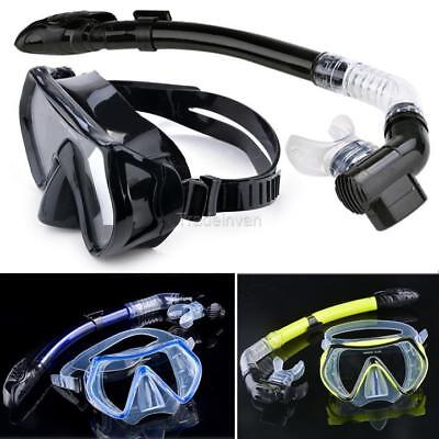 Scuba Diving - Diving Mask Snorkel Glasses Set Silicone Swimming Pool TIN1
