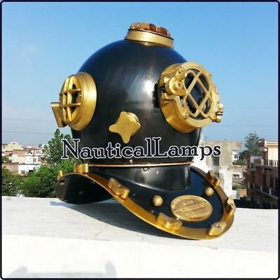 US Navy Mark V Full Size Vintage Soli Brass & Steel Diving Divers Helmet gift