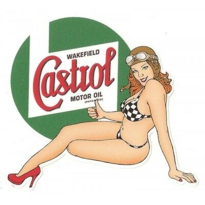 CASTROL left Pin up gauche Sticker