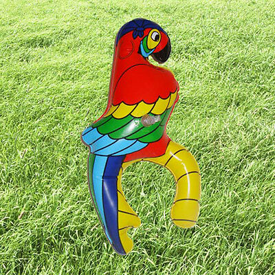 28cm Inflatable Tropical Pirate Shoulder PARROT Bird FancyDress Accessory NEW