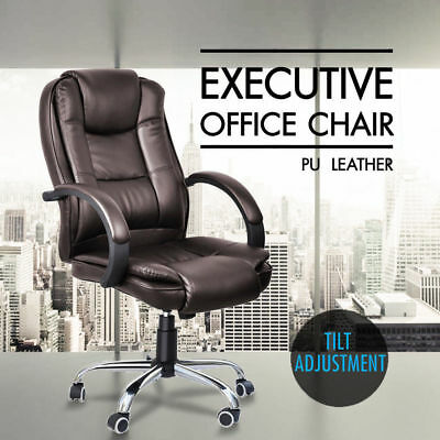 Business PU Leather Faced Swivel Executive Computer Office Chair Heavy Duty /N