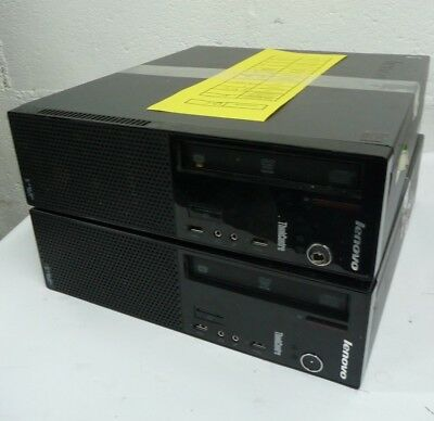2 x Lenovo E73 SFF PCs NO CPU NO RAM 500GB HDD Win 8 Pro inc VAT