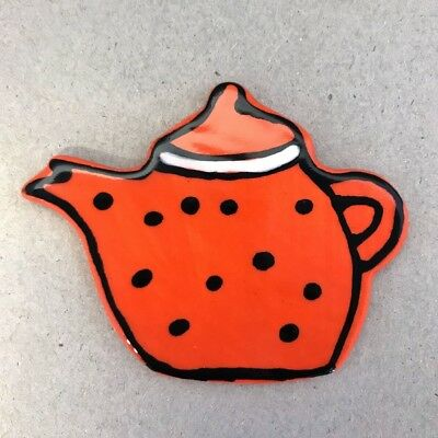Ceramic Teapot - Orange ~ Ceramic Mosaic Tiles