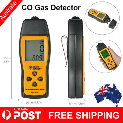Carbon Monoxide Meter with CO Gas Tester Monitor Detector Gauge 0-1000ppm D4O7