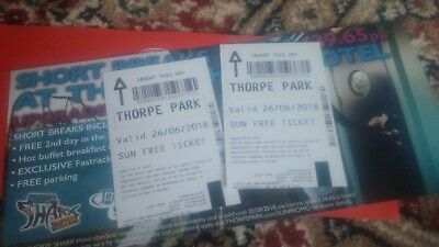 The Sun - Thorpe Park Tickets - 2nr - 26/06/2018