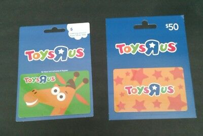 2 TOYS R US Gift Cards 2017  Geoffrey Giraffe, Stars, Collectible, Mint