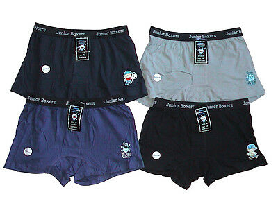 NEW NWT 9 BOYS SCHOOL COTTON BOXER SHORT UNDERWEAR (Size 12)