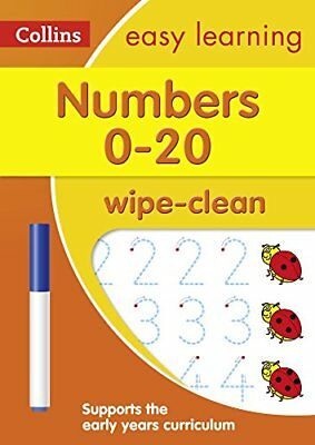 Numbers 0-20 Age 3-5 Wipe Clean Activity Book (Collins Easy Learning...