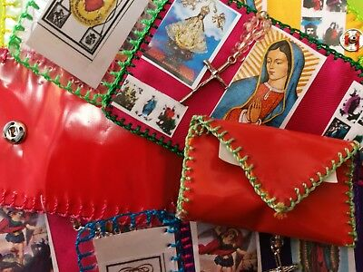 Authentic Mexican Saint Wallet Portable Alter Protection Amulet