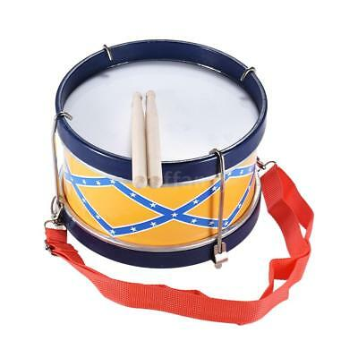 Colorful Snare Drum Toy Percussion Instrument with Drum Sticks Strap R7D8