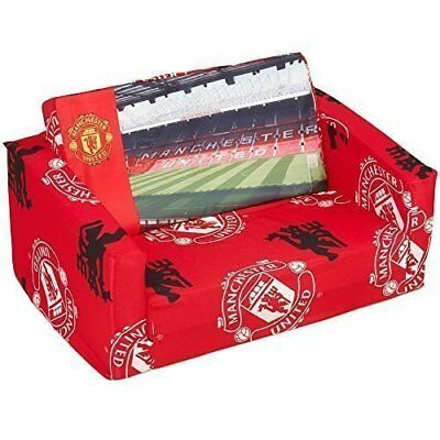 Official Manchester United Kids Sofa Bed - Toddlers Foldable 2 in 1 Sofa and Bed