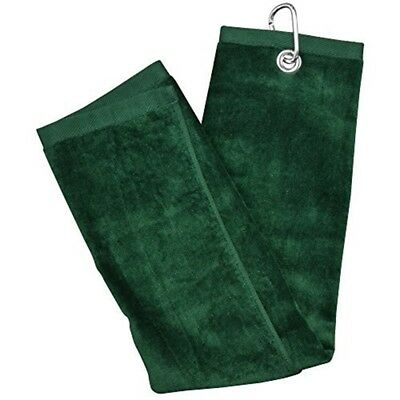 Longridge Unisex Luxury Blank 3 Fold Golf Towel, Green, One Size