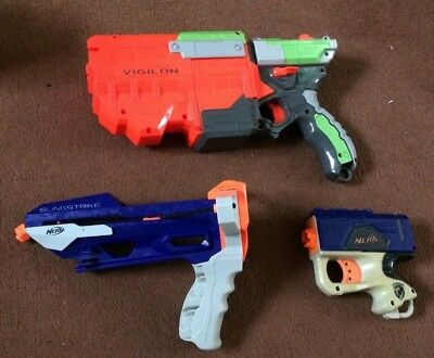 Nerf Gun Bundle inc Slingstrike , Vortex Vigilon, small gun