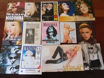 Madonna AD collection magazine clippings VERSACE Dolce & Gabbana