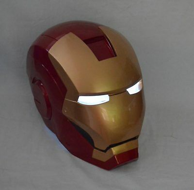 Handmade 1:1 Iron Man helmet Strong ABS LED Eyes Decoration Wearable Cosplay