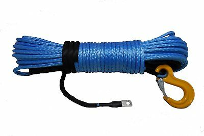10mm X 28m Dyneema SK78 Winch Rope Hook Synthetic Car Tow Recovery Cable