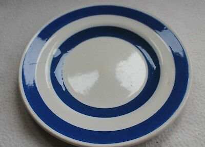 Staffordshire Chefware side plate blue and white
