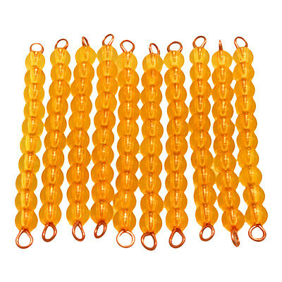 Pack of 10pcs Montessori Maths Material 1-100 Numbers Count Ten Beads Bars