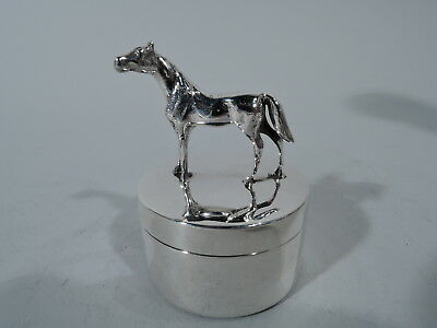 Herbst & Wassall Box - Postage Stamp Stamps Horse - American Sterling Silver