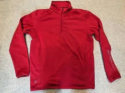 Galvin Green Half Zip Insula Pullover Large Red