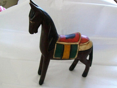 Wooden Horse Folk Art wooden horse Hand carved and painted