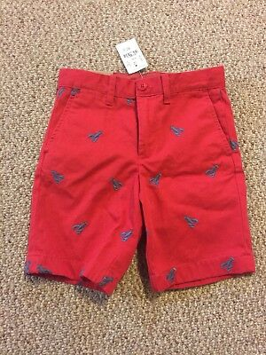 JCrew Crewcuts Boys Lobster Embroidered Shorts Size 6 NWT