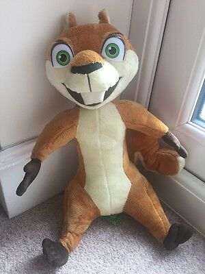 """Over The Hedge Hammy Squirrel Talking Dreamworks Working Plush Soft Toy 13"""""""