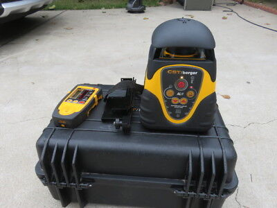 CST/Berger alh electronic self leveling rotary laser w/ receiver & case