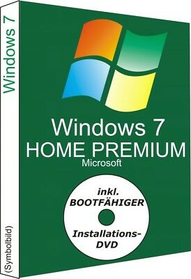 Windows 7 Home Premium mit  Key und DVD, 32/64 Bit