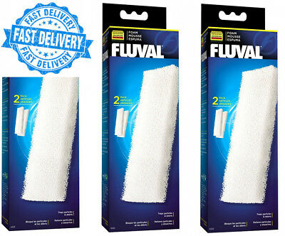Fluval A222 Foam Filter Accessories for 204/205/206 304/305/306 (3 Packs)