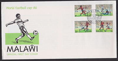 Malawi 1986 FDC Official illustrated Cover Full World Football Cup FDI cancel