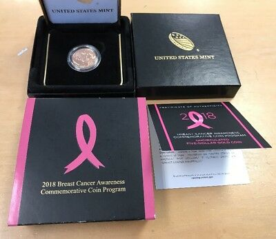 2018 Breast Cancer Awareness Uncirculated Five-Dollar Gold Coin