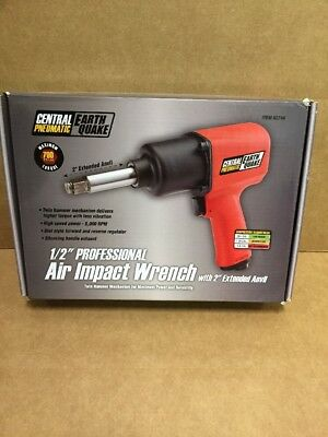 """Nib Central Pneumatic 62746 1/2"""" Air Impact Wrench W/ 2"""" Extended Anvil"""