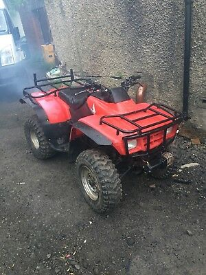 honda trx 250 farm quad starts and drives spares or repair project with winch