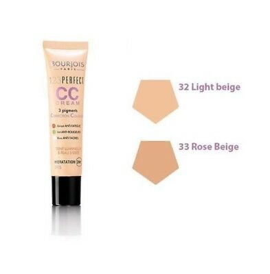 Bourjois 123 Perfect CC Cream 3 Pigments --Choose shade---
