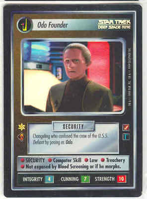Star Trek CCG Sword of Kahless Blaze of Glory Super Rare SR Foil
