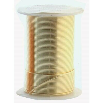 15 yard Spool BeadSmith Tarnish Resistant Gold 1/2 Hard 20 Gauge Wrapping Wire