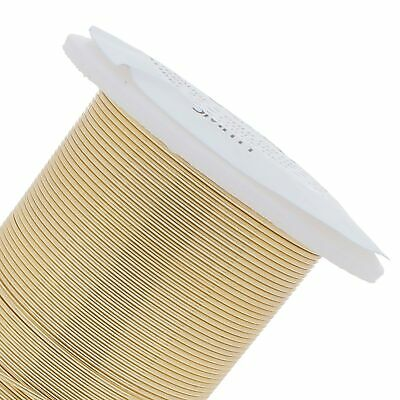 30 yard Spool BeadSmith Tarnish Resistant GOLD 1/2 Hard 24 Gauge Wrapping Wire