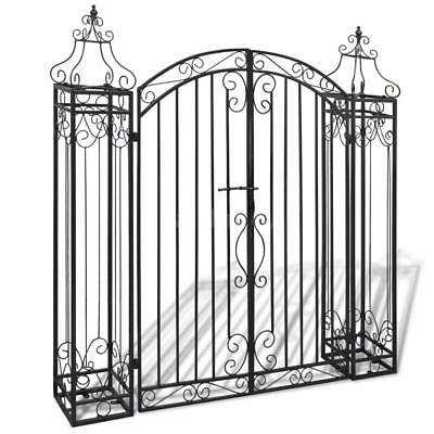 Ornamental Driveway Gate Wrought Iron Front Door Garden Entry Fencing Home W5L0