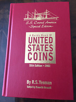 55TH 2001 Official Red Book Guide Book of United States Coins ANA Target