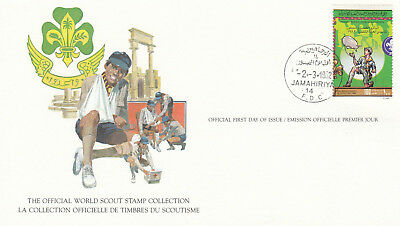 (14055) Libya FDC Card Scouts 2 March 1982