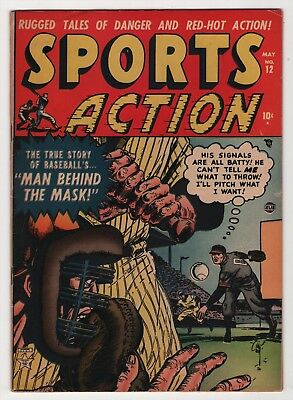 Sports Action #12 nice 1952 Atlas Comics Bill Everett cover create-a-lot & save