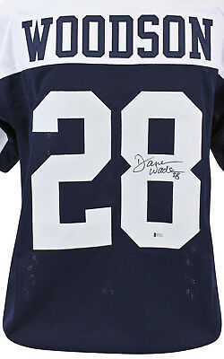 0b091611104 Cowboys Darren Woodson Authentic Signed Thanksgiving Jersey BAS Witnessed