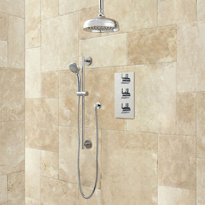 Isola Thermostatic Shower With With Rainfall Shower And Hand Shower