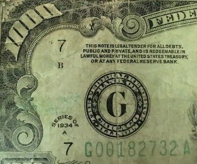 Genuine 1934A $1000 Dollar Bill Currency Cash Note Money - Cheapest On Ebay