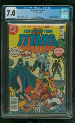 Cgc 7.0 New Teen Titans #2 Dc Comics 1980 1St Appearance Of Deathstroke