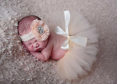 Newborn Baby Girl Crochet Knit Tutu Skirt Fancy Costume Photography Outfit F