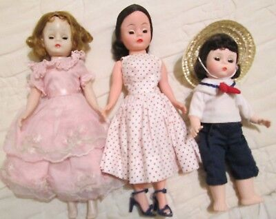 Vintage 1950's Madame Alexander Cissette Doll + 2 More from 1960-70's - 3 LOT